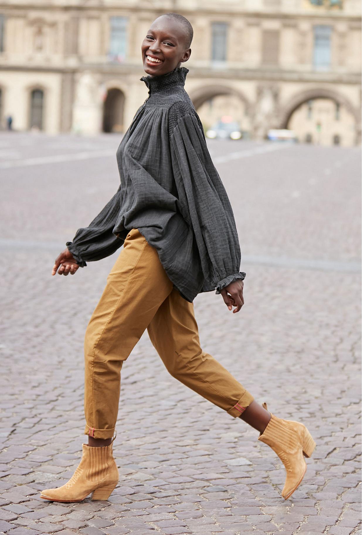 Khaki  Pant  Brook Mes demoiselles fashion clothes designer Paris