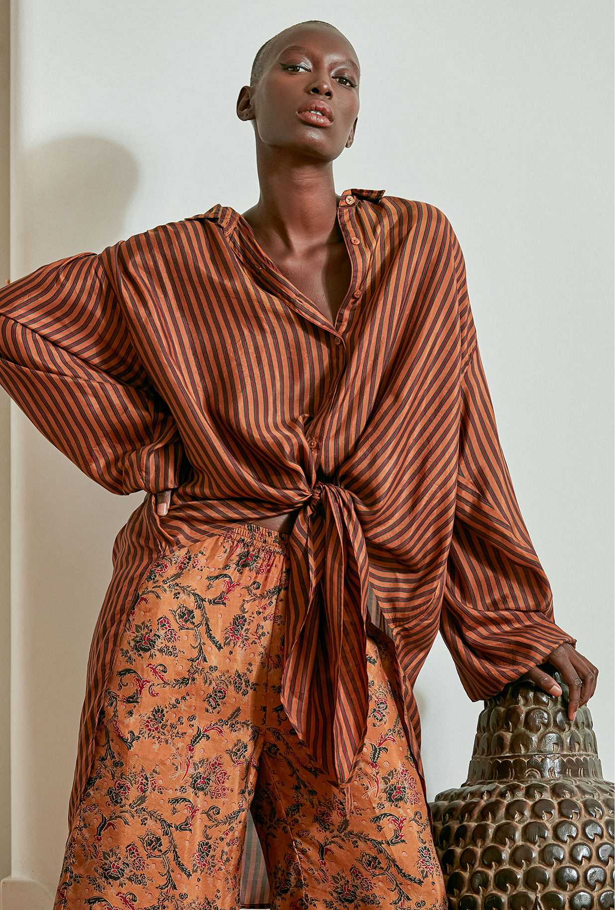 Terracotta  Shirt  Sambuca Mes demoiselles fashion clothes designer Paris