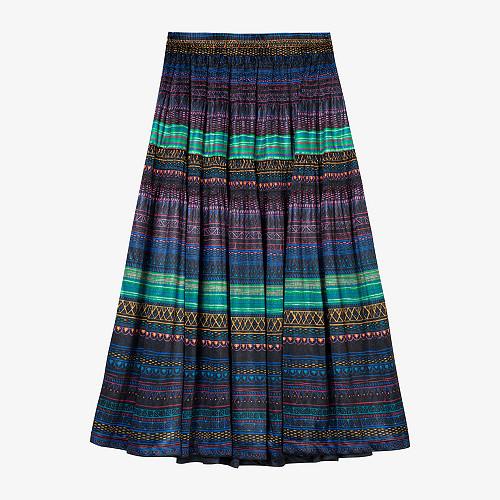 Skirt Mona Mes Demoiselles color - Purple print -