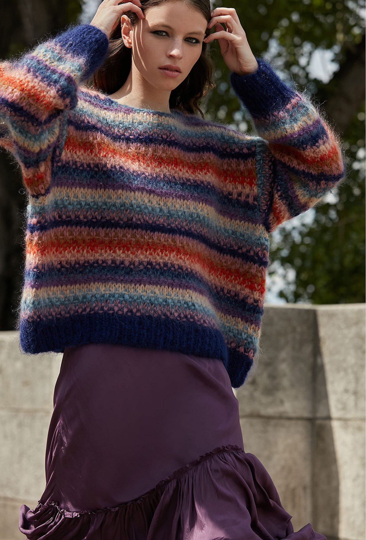 multicolor  Sweater  Dolce Mes demoiselles fashion clothes designer Paris