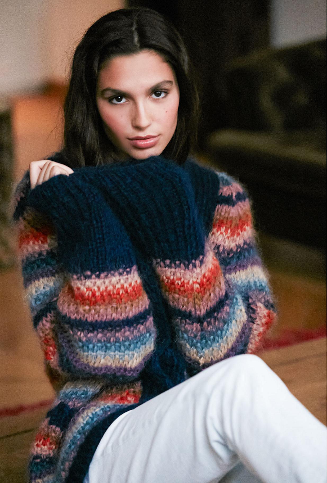 multicolor  Cardigan  Delicato Mes demoiselles fashion clothes designer Paris