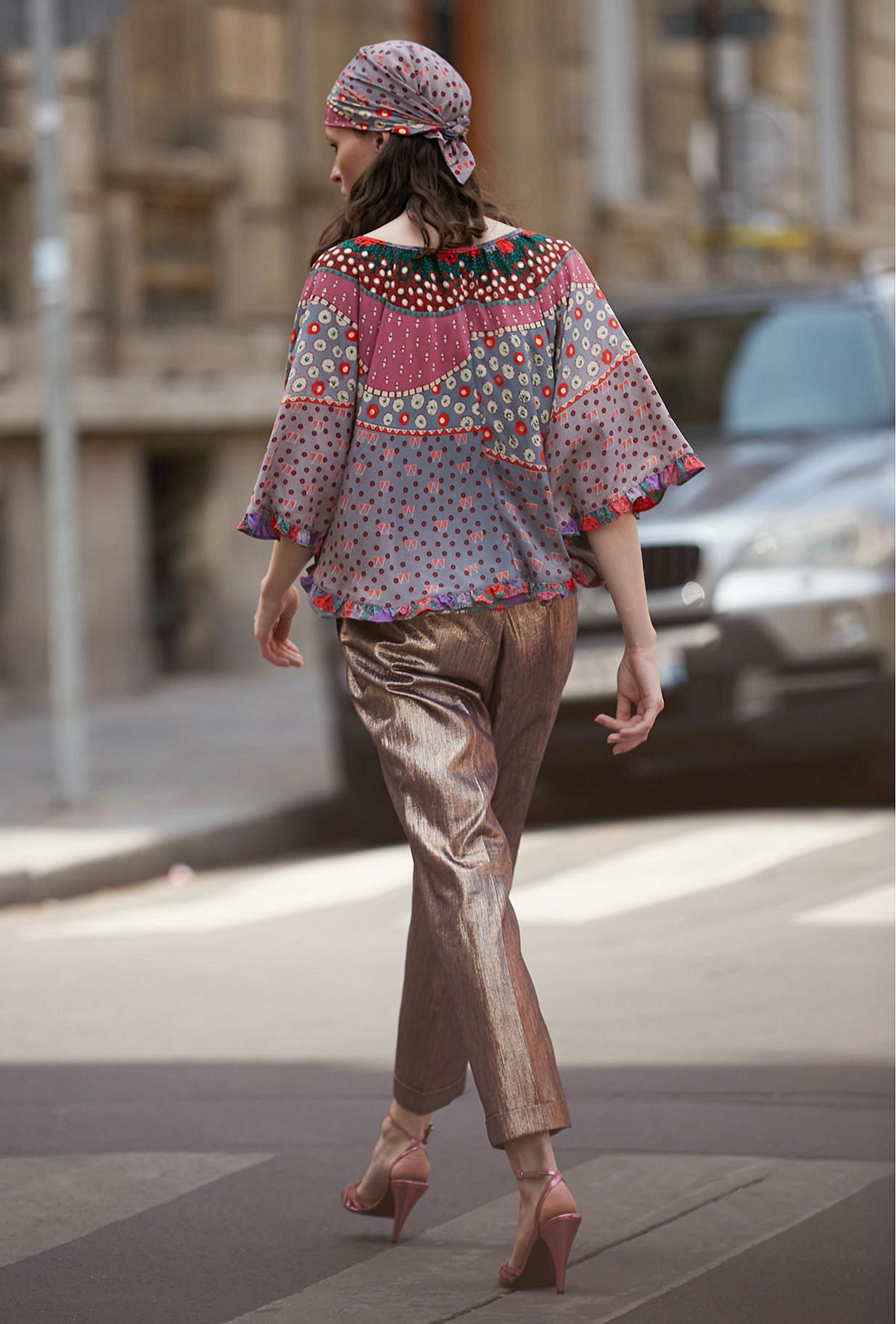 Flower print  Top  Acai Mes demoiselles fashion clothes designer Paris