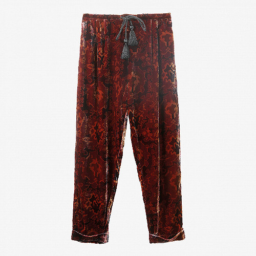 Berry print  pant  Abbas Mes demoiselles fashion clothes designer Paris