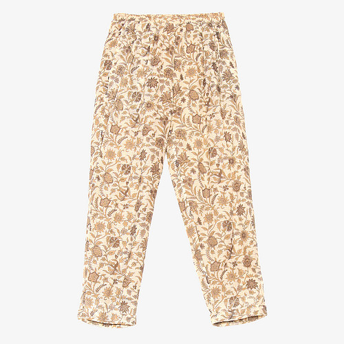 Ocre print  pant  Calune Mes demoiselles fashion clothes designer Paris