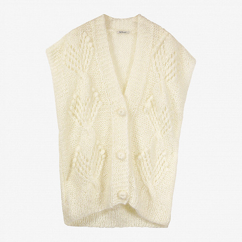 Ivory  Cardigan  Clarisse Mes demoiselles fashion clothes designer Paris