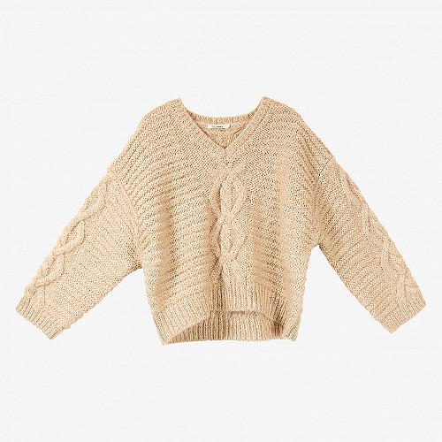 Beige  Sweater  Cordier Mes demoiselles fashion clothes designer Paris