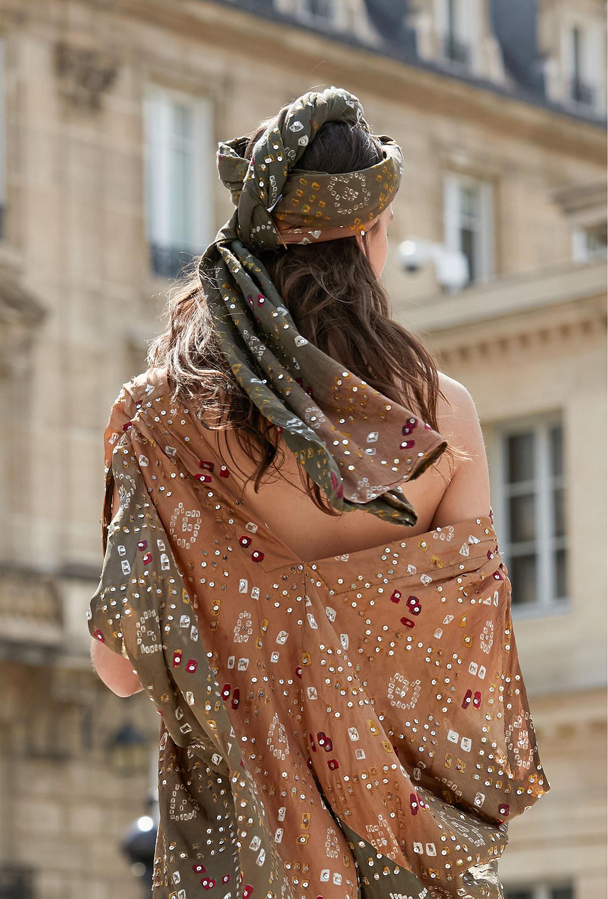 Foulard Noumane Mes Demoiselles coloris Imprimé khaki