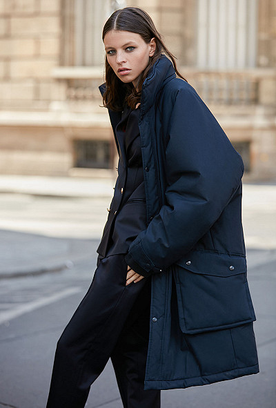 Navy  Coat  Stormi Mes demoiselles fashion clothes designer Paris