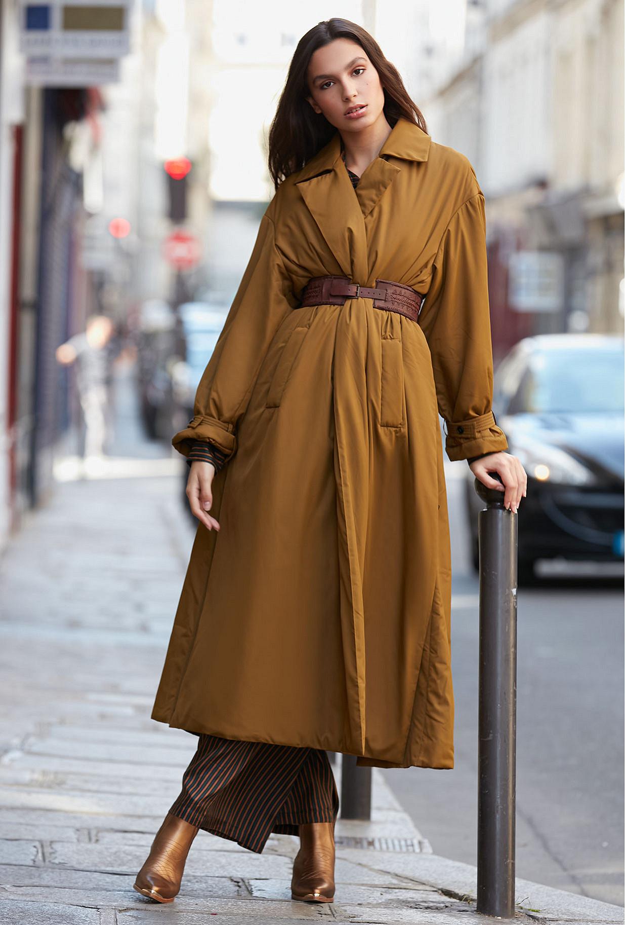 Khaki Coat Burburry Mes Demoiselles Paris