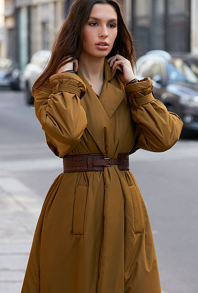 Khaki  Coat  Burburry Mes demoiselles fashion clothes designer Paris