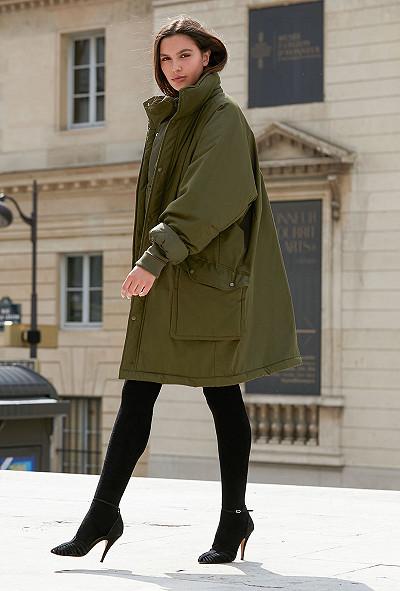 Khaki  Coat  Stormi Mes demoiselles fashion clothes designer Paris