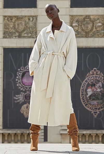 Off white  Coat  Caribou Mes demoiselles fashion clothes designer Paris