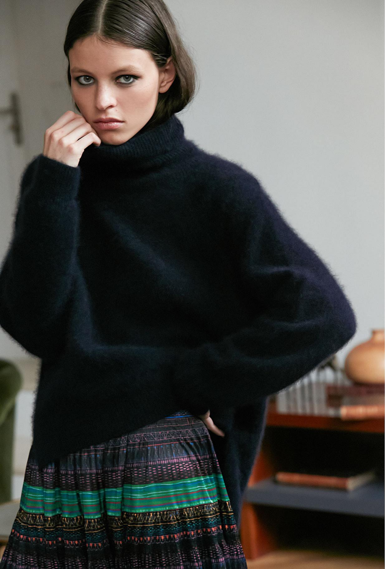 Sweater Rosie Mes Demoiselles color Navy