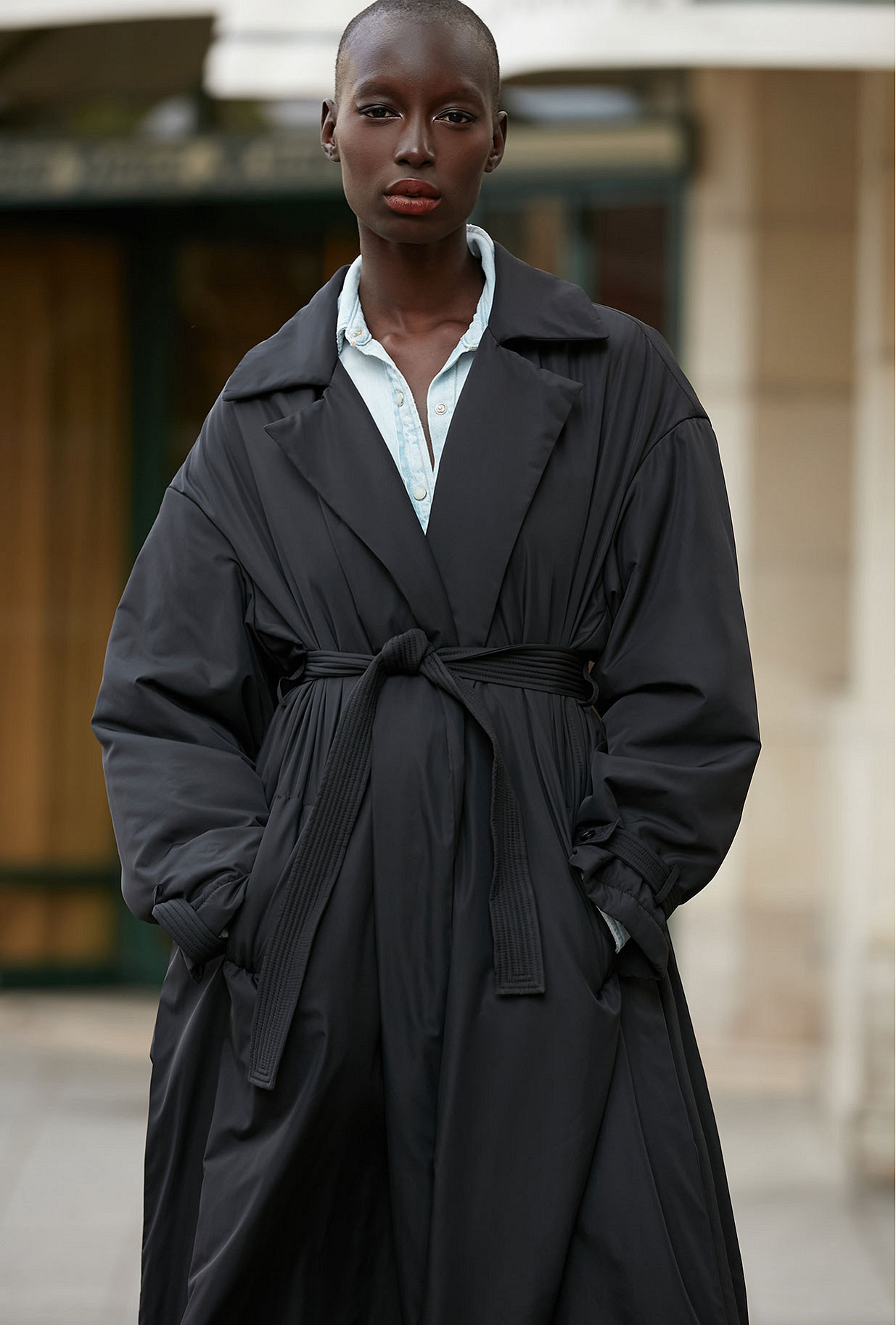 Coat Burburry Mes Demoiselles color Anthracite