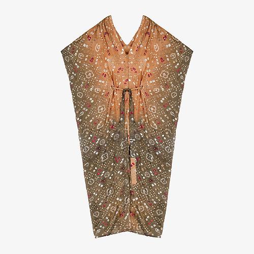 Khaki print Kimono Crown Mes Demoiselles Paris