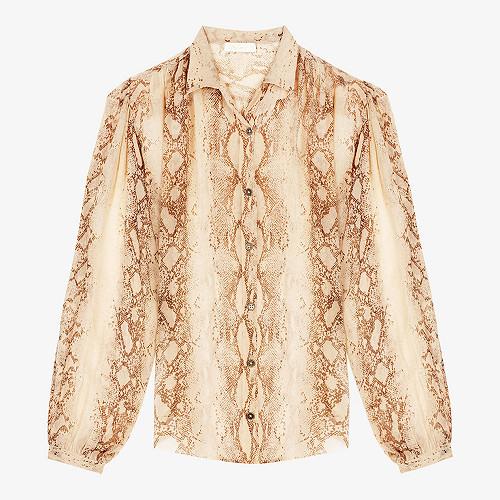 Shirt Pillar Mes Demoiselles color - Beige print -
