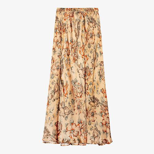 - Floral print - Skirt Nong