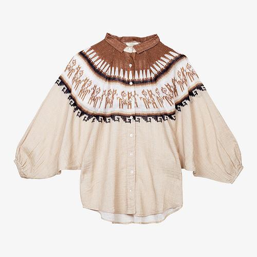 - Natural Print - Shirt Chavin Mes Demoiselles Paris