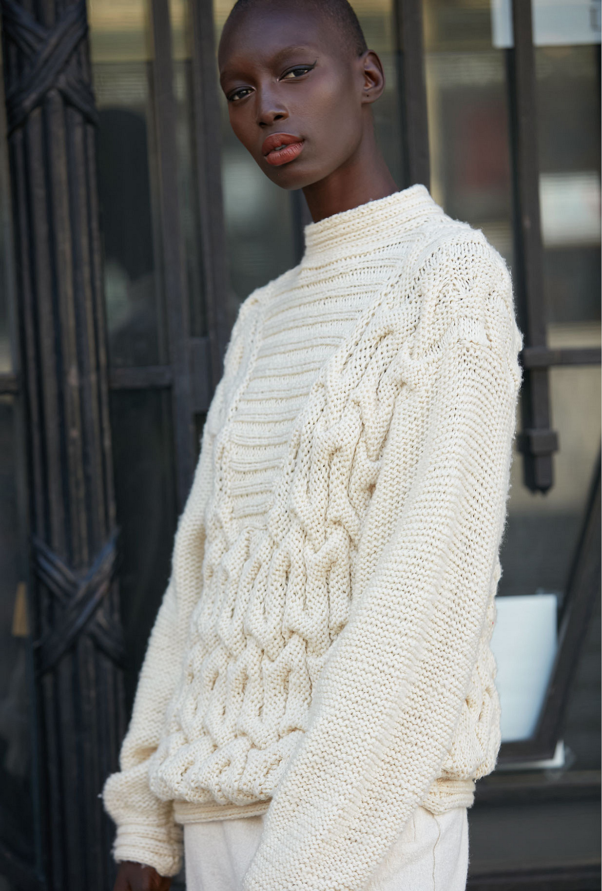Sweater Kubrick Mes Demoiselles color Off-white