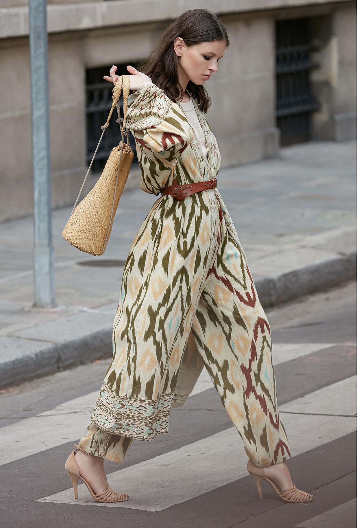 - Aqua print - Coat Samarcande Mes Demoiselles Paris