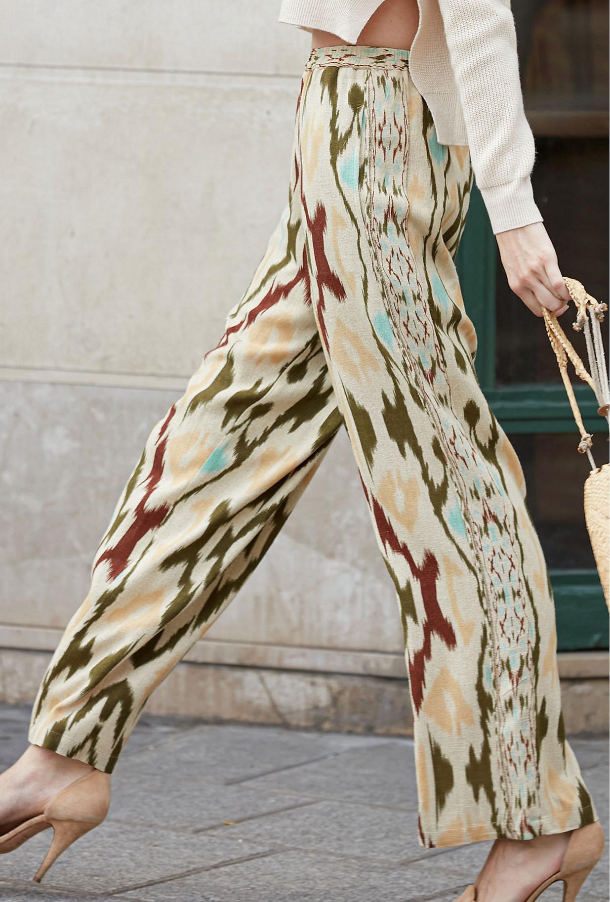- Aqua print - Pants Sonde Mes Demoiselles Paris