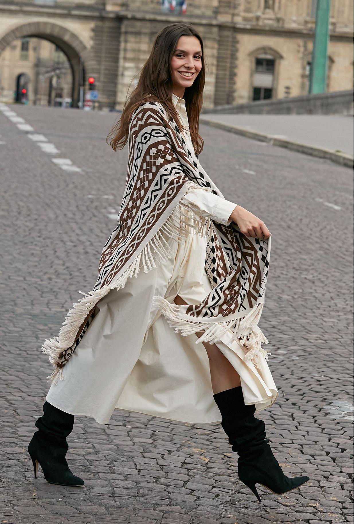 Poncho Multicolore Santana Mes Demoiselles Paris