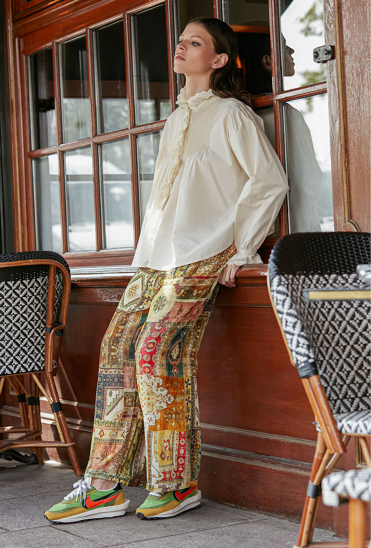 - Green Print - Pants Baloutche Mes Demoiselles Paris