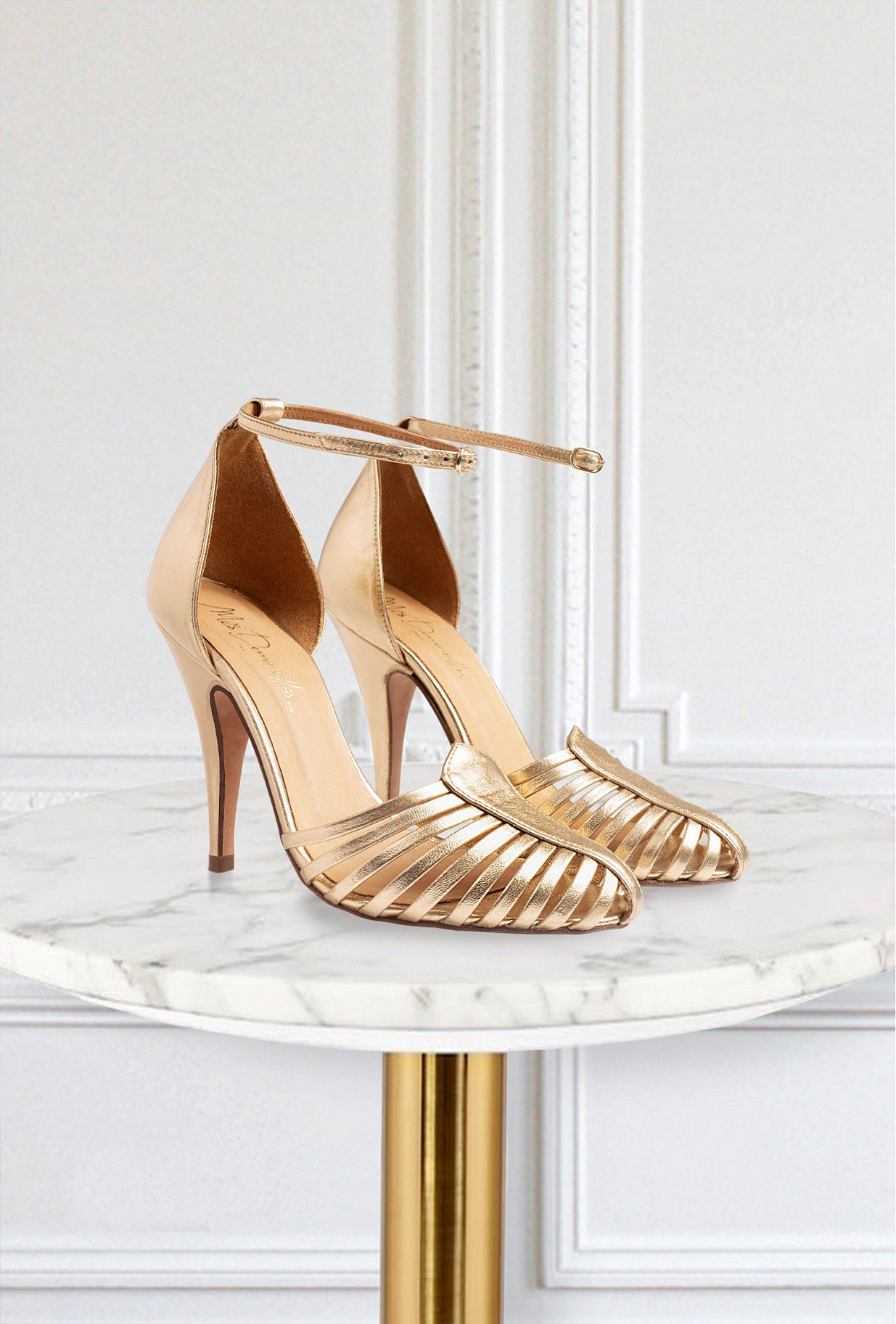 Gold Pumps Venitiennes Mes Demoiselles Paris