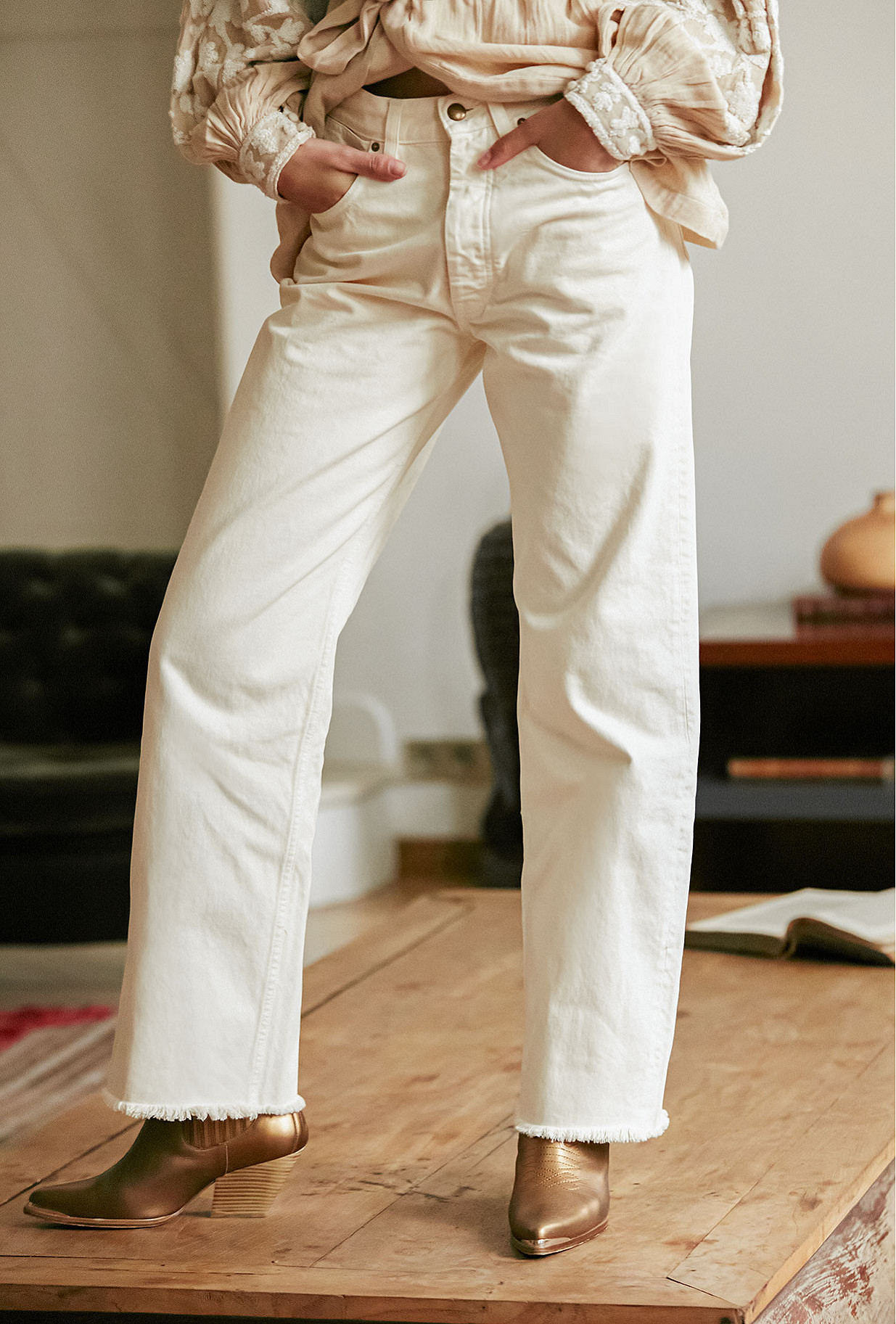 Jeans Mustang Mes Demoiselles color Off white