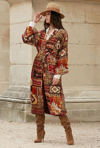 Kimono - imprimé rouge - Balazet