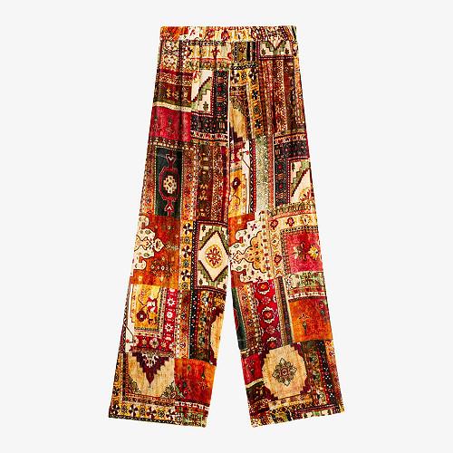 Pantalon Baloutche Mes Demoiselles coloris - imprimé rouge -