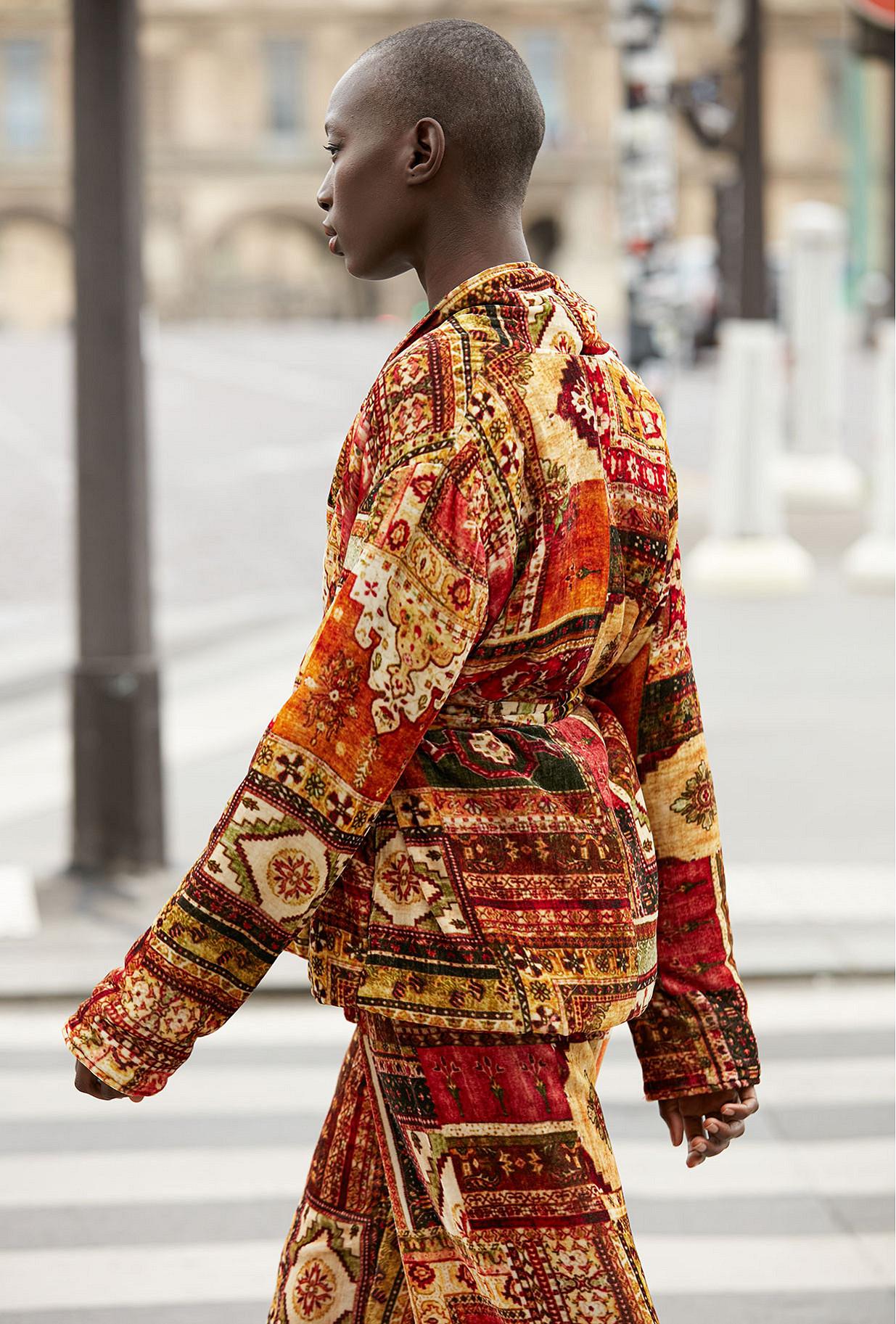 - red print - Jacket Bibibaff