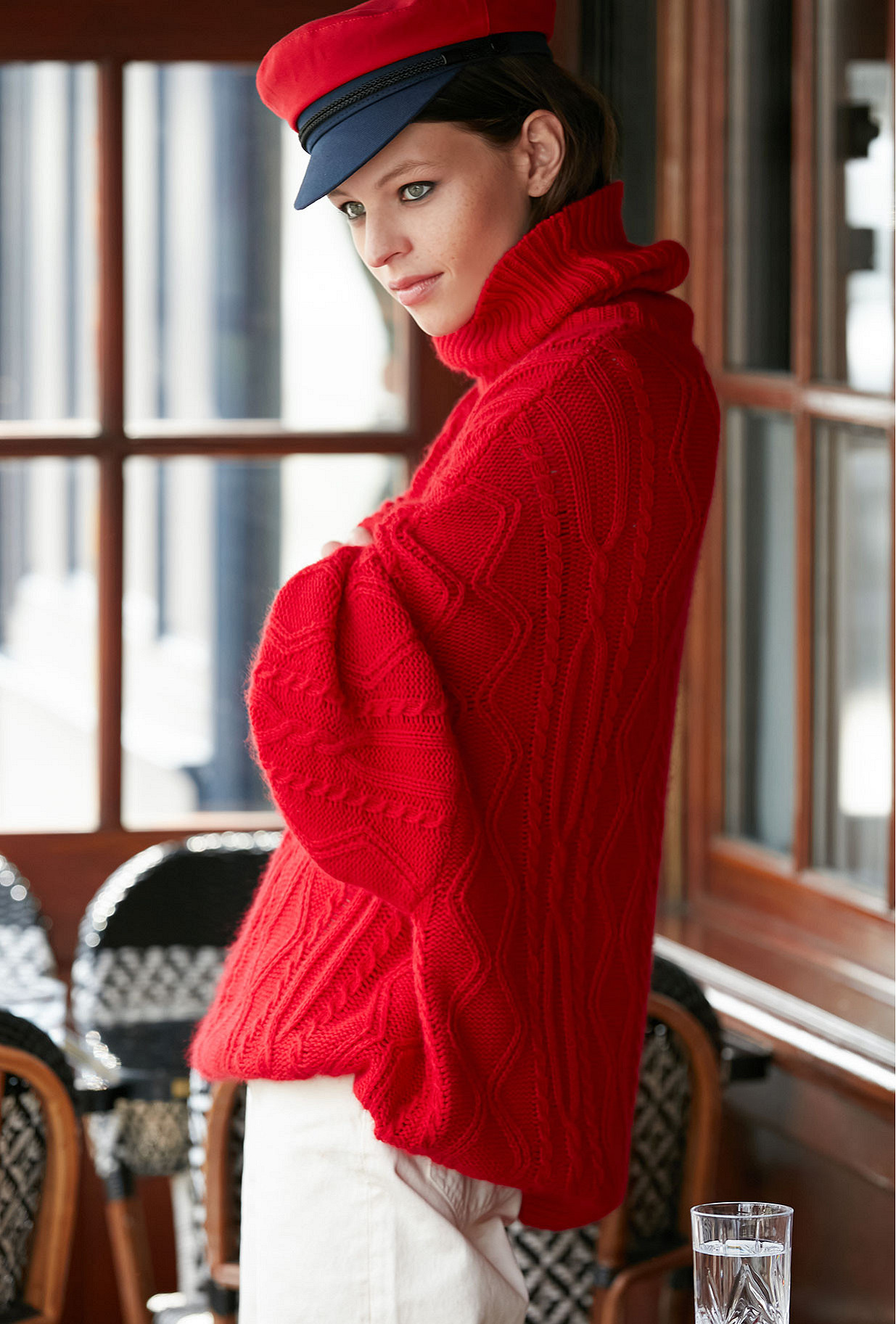 Sweater Clash Mes Demoiselles color Red