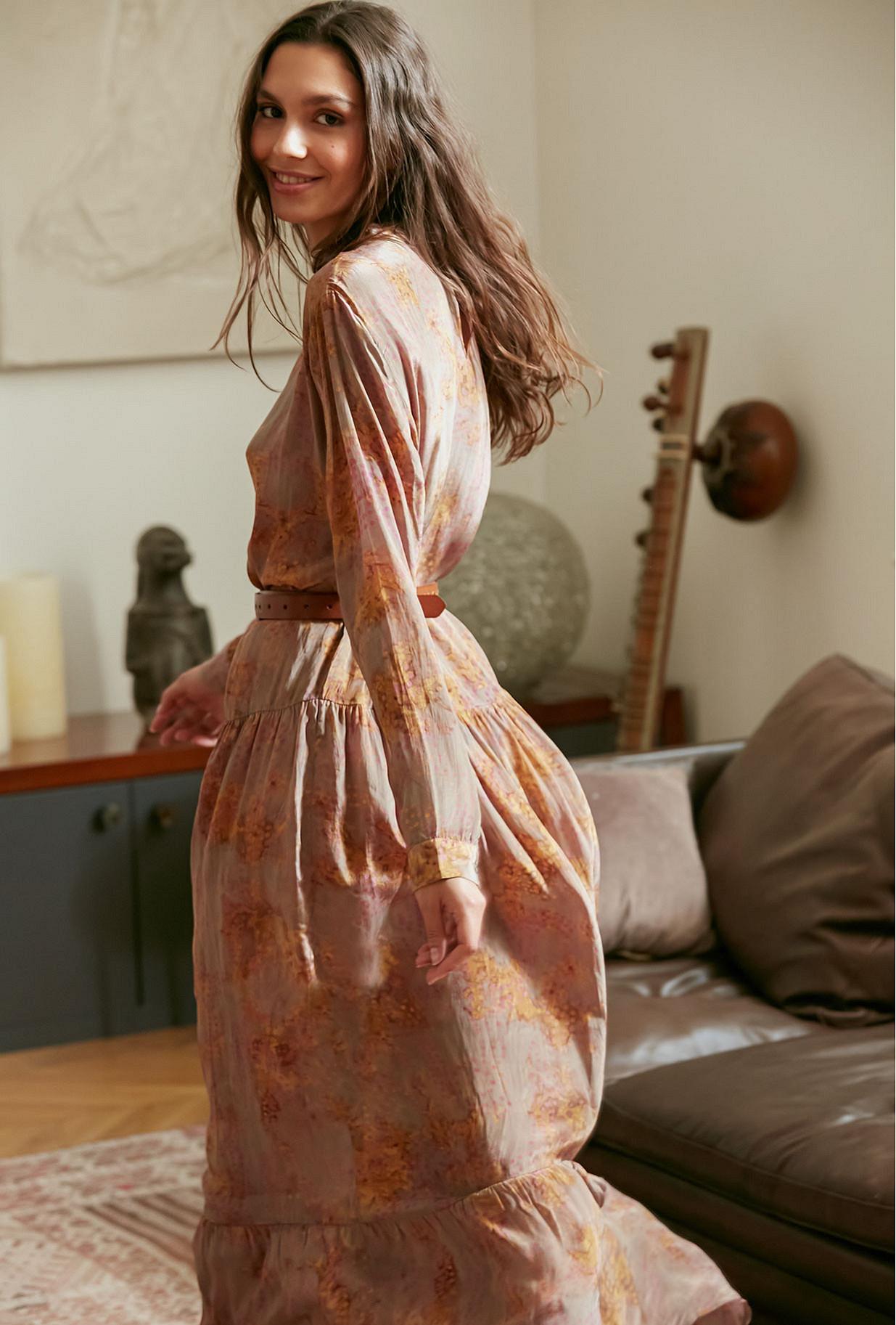 Taupe Dress September Mes Demoiselles Paris