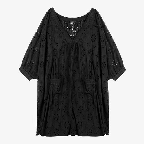 Robe Beaurevoir s Mes Demoiselles coloris Noir