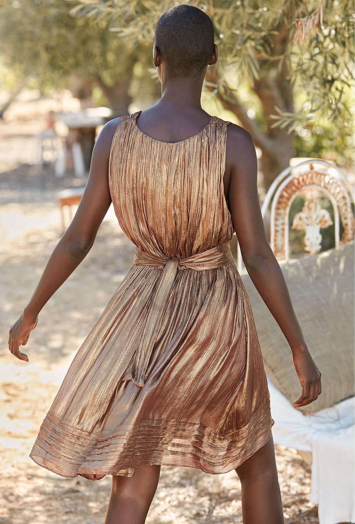 Dress Beyond Mes Demoiselles color Bronze