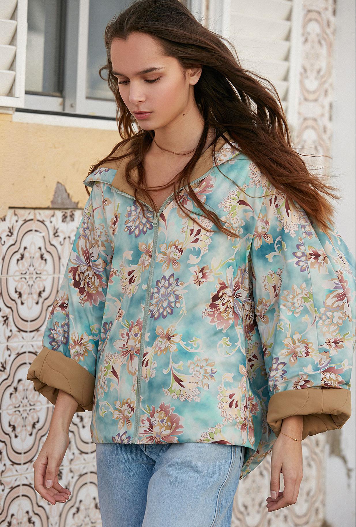 Jacket Kalapara Mes Demoiselles color Print Aqua