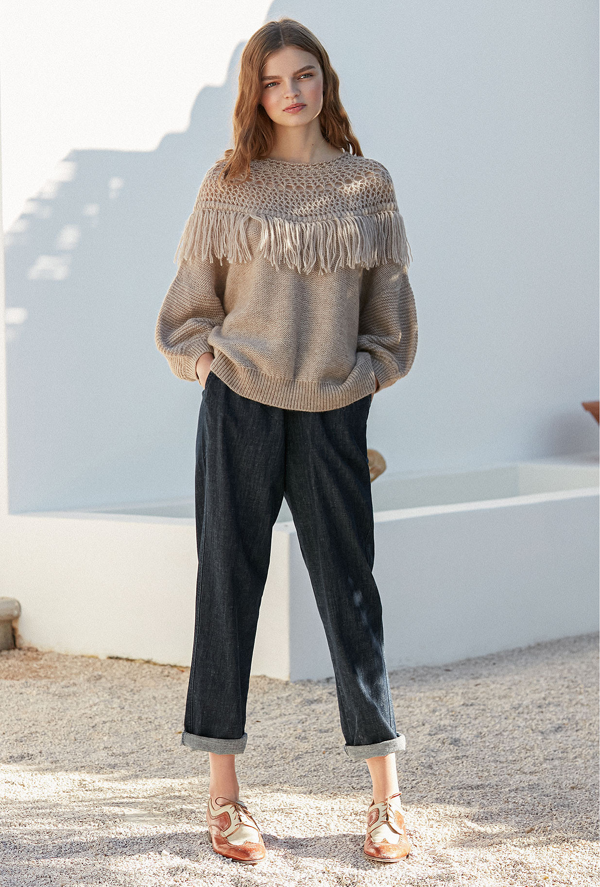 Sweater Pachamama Mes Demoiselles color Natural