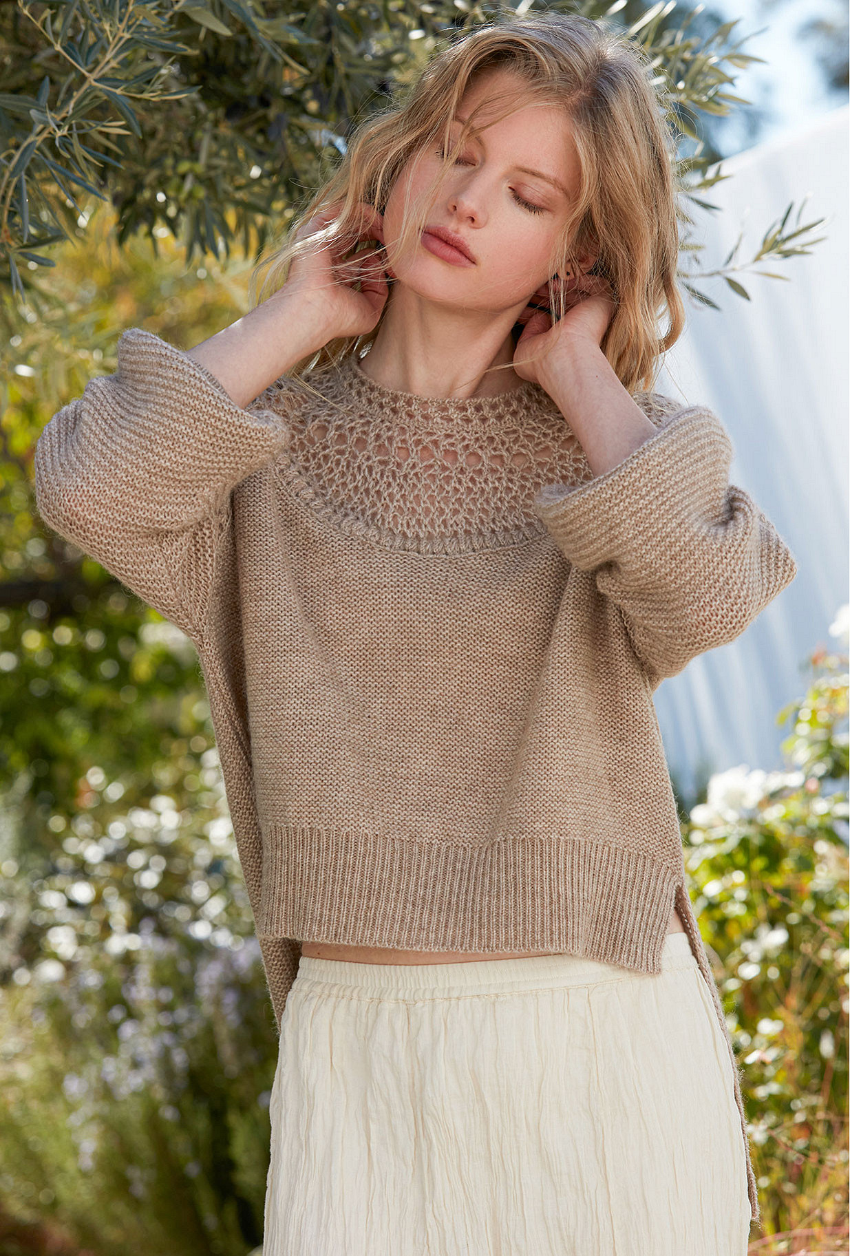 Sweater Picchu Mes Demoiselles color Natural