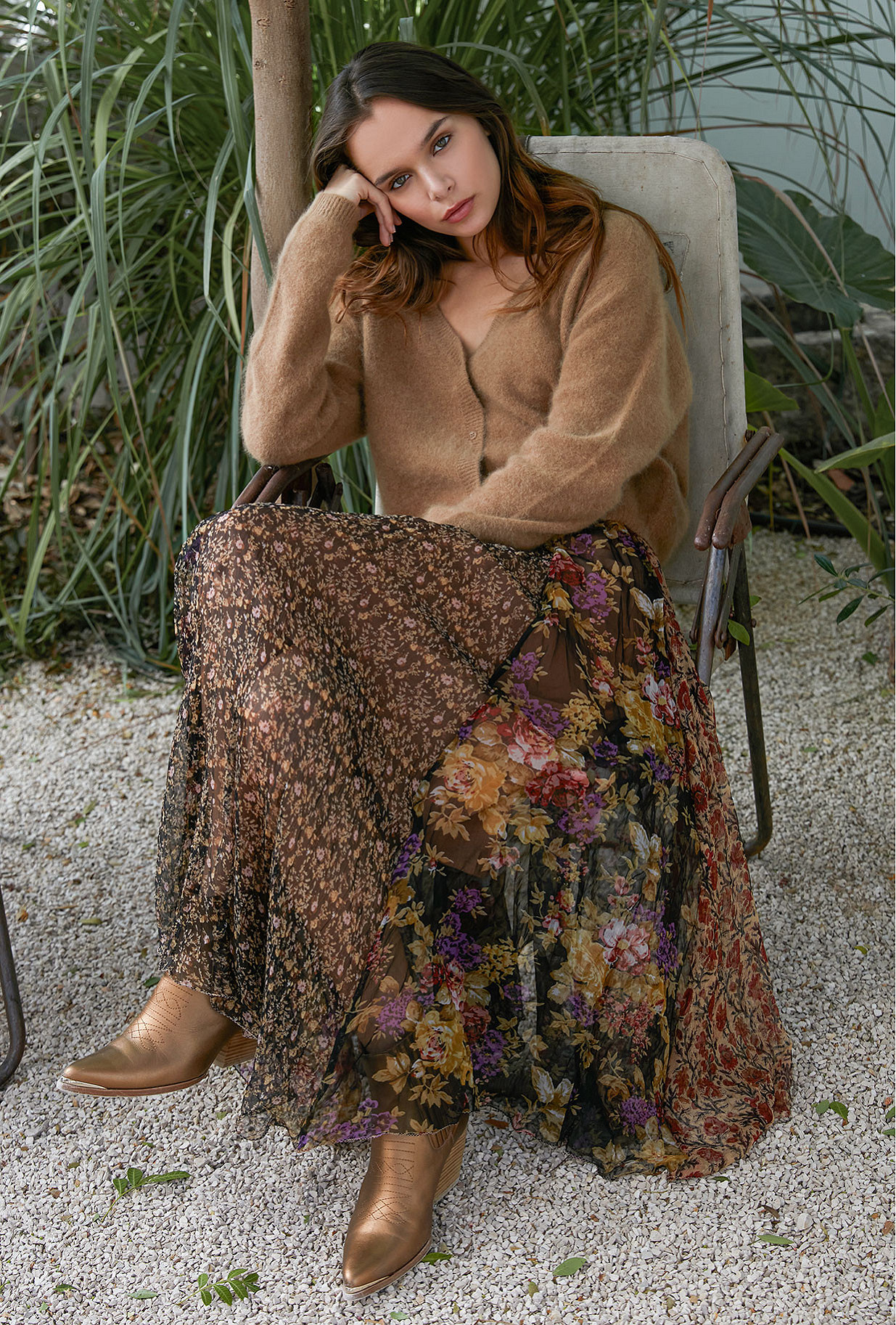 Skirt Guimauve Mes Demoiselles color Multico print