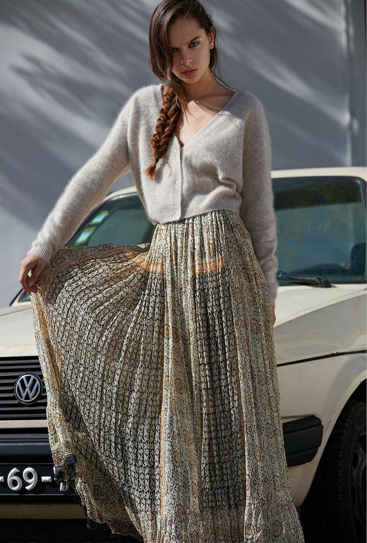 Skirt Hulotte Mes Demoiselles color Ocre print