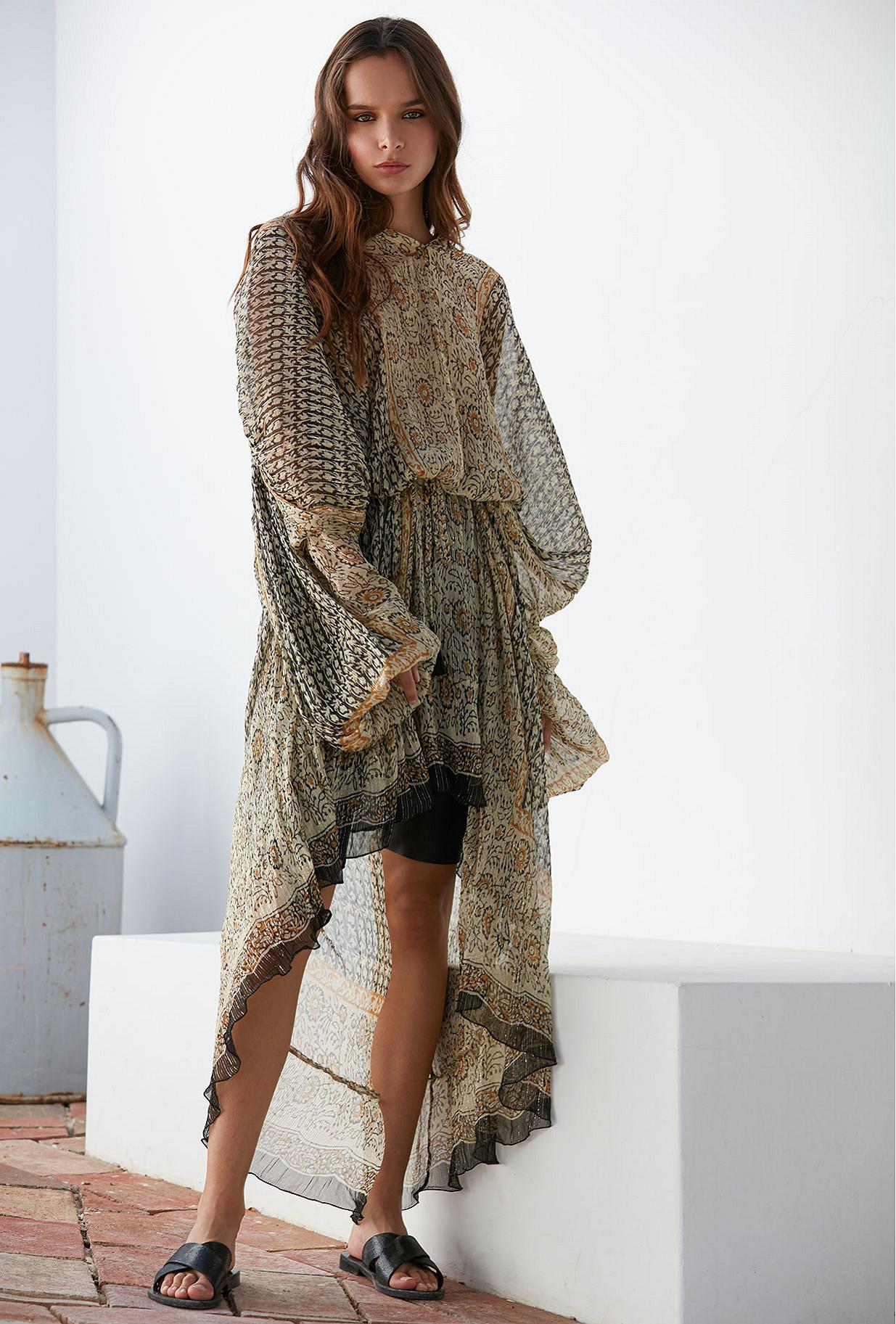 Dress Helix Mes Demoiselles color Ocre print