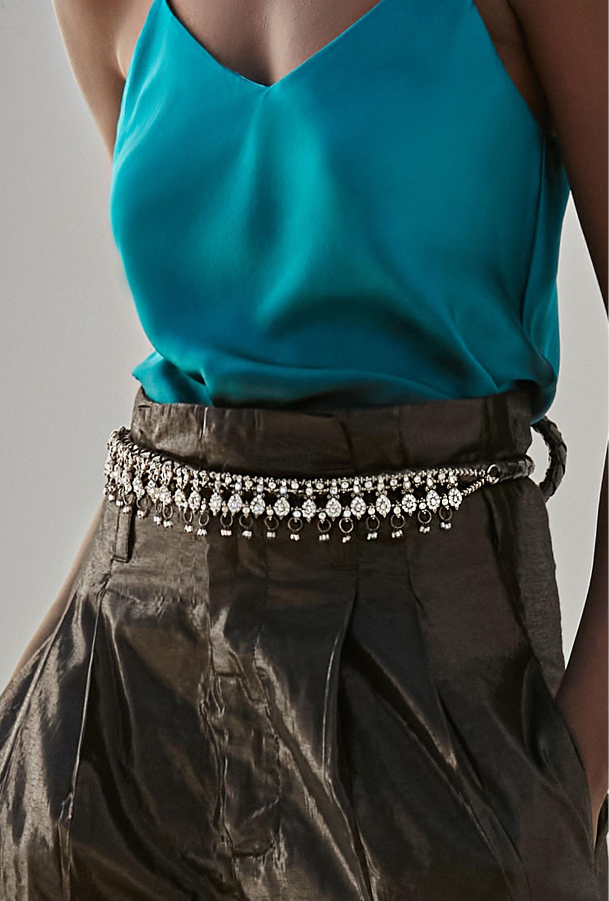Belt Cristal Mes Demoiselles color Black