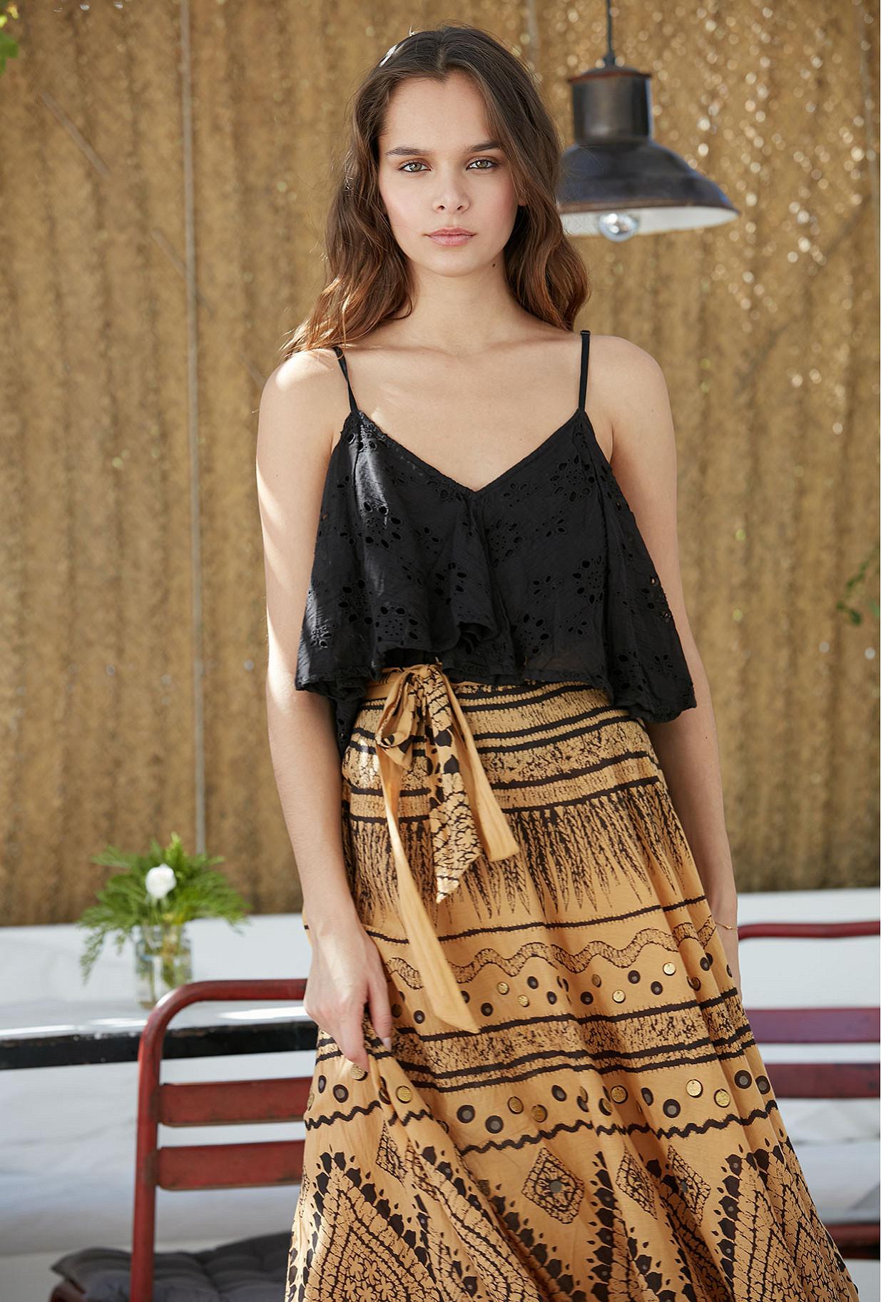 Skirt Ankti Mes Demoiselles color Ocre print