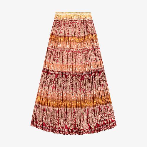 Skirt Boheme Mes Demoiselles color Pink print