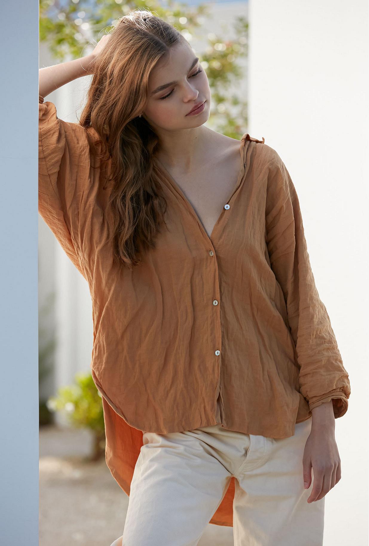 Shirt Constance Mes Demoiselles color Ocre