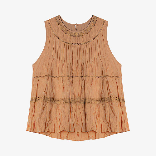 Top Cordeilla Mes Demoiselles color Ocre