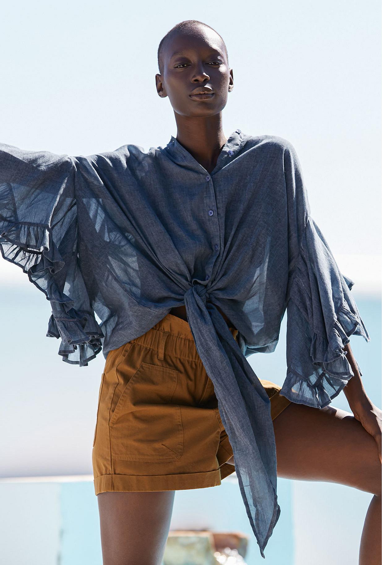 Shirt Elegante Mes Demoiselles color Blue