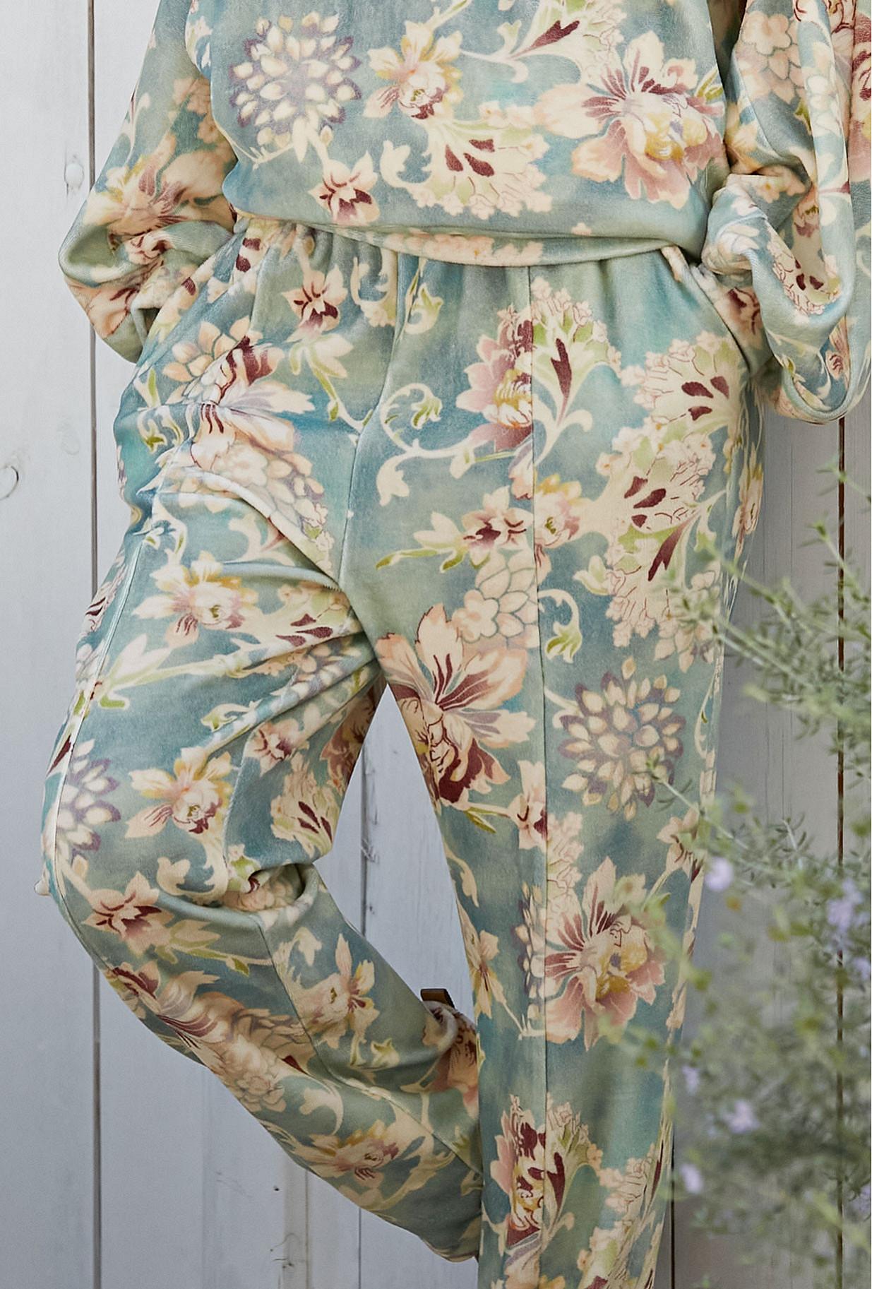 Pants Kaana Mes Demoiselles color Print Aqua