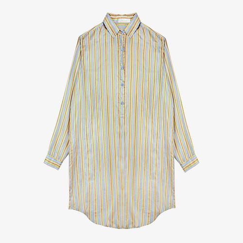 Shirt Anouk Mes Demoiselles color Aqua stripes